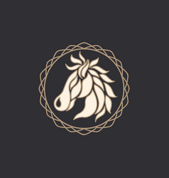 horse logo icon design vector image