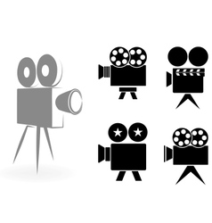 Icons of video cameras vector