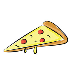 image a slice pizza or color vector image