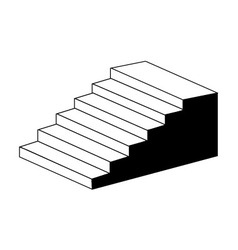 Isometric object stair- architectural 3d object vector image