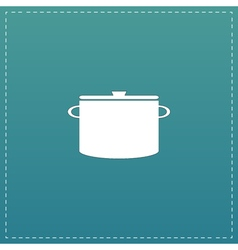 Kitchen icon of pan vector