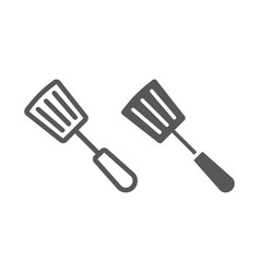 kitchen spatula line and glyph icon kitchen vector image