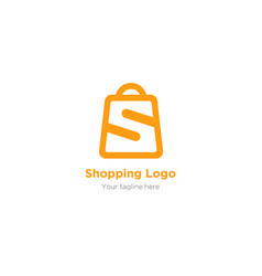 Letter s logo in bag symbol for your market vector