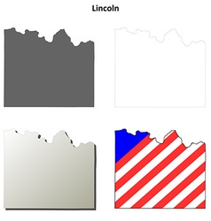 Lincoln Map Icon Set vector