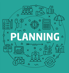 linear planning vector image