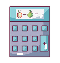 Market calculator cartoon vector