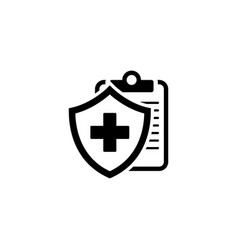Medical insurance icon flat design vector