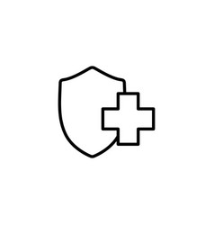 medical insurance shiled icon on white background vector image