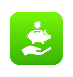 money protection icon green vector image
