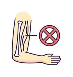 Muscular dystrophy rgb color icon vector