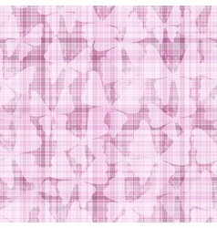 Pink gentle seamless checkered pattern vector image