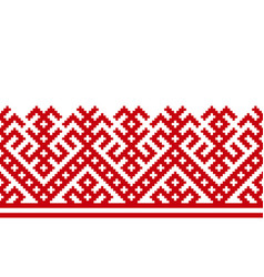 Russian old embroidery and pattern vector