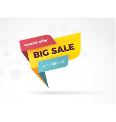 sale color speech sign new modern style vector image