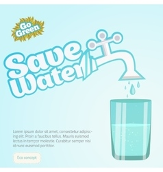 Save Water Conceptual with vector