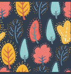 seamless pattern floral template vector image