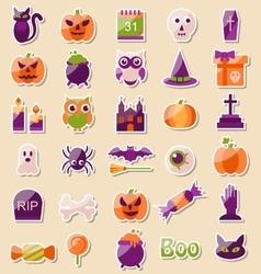 Set of Halloween Flat Icons Scrapbook Elements vector
