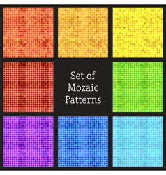 Set of patterns of colorful mosaic vector image