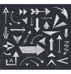 Set of various arrows icons logos vector
