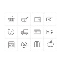 Shopping vector image