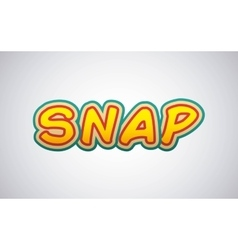 Snap comic pop art style vector