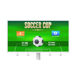 Soccer cup billboard template with place for your vector