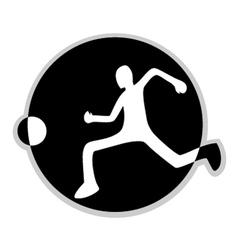 Soccer symbol vector image