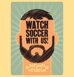 Soccer typographic vintage style poster vector