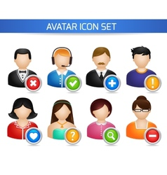 Social Avatar Icons Set vector image