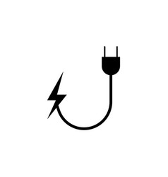 Socket lightning icon on white background can be vector