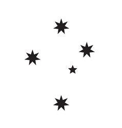 Southern cross stars constellation vector