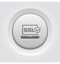 SSL Certified Protection Icon Flat Design vector image