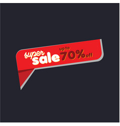 Super sale up to 70 label template design vector
