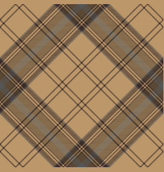 tartan brown beige seamless fabric texture vector image