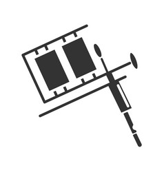 Tattoo machine glyph icon vector