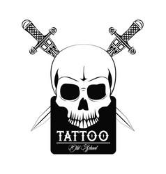 tattoo studio design vector image