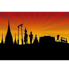 Thailand travel design template design vector image