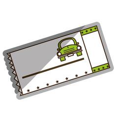 Ticket parking car icon vector