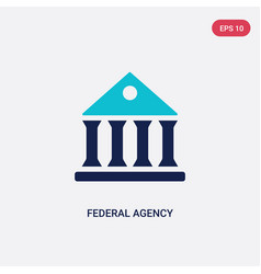 Two color federal agency icon from army and war vector