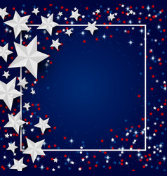 Usa background star for 4 july independence vector