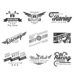 Vintage Motorcycle Labels Badges Text and Design vector