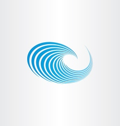 water wave blue sign vector image vector image