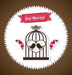 Wedding label vector