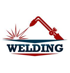 Welding work symbol vector
