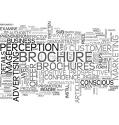 Why brochures are effective text word cloud vector