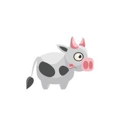 Cow Simplified Cute vector image