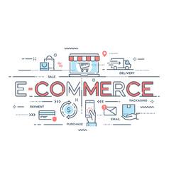 e-commerce online shopping retail sale vector image vector image