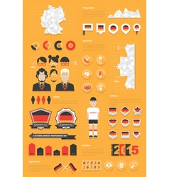 germany infographic set vector image
