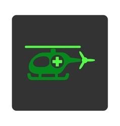 Medical chopper flat button vector