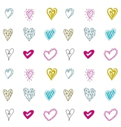 Seamless pattern with hearts for Valentines days vector image vector image
