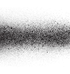 spray painted gradient detail in black over white vector image